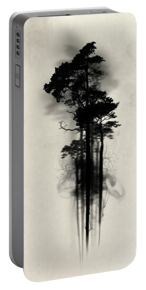 Forest Portable Battery Charger featuring the painting Enchanted Forest by Nicklas Gustafsson