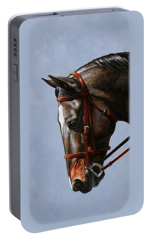 Horse Portable Battery Charger featuring the painting Horse Painting - Discipline by Crista Forest