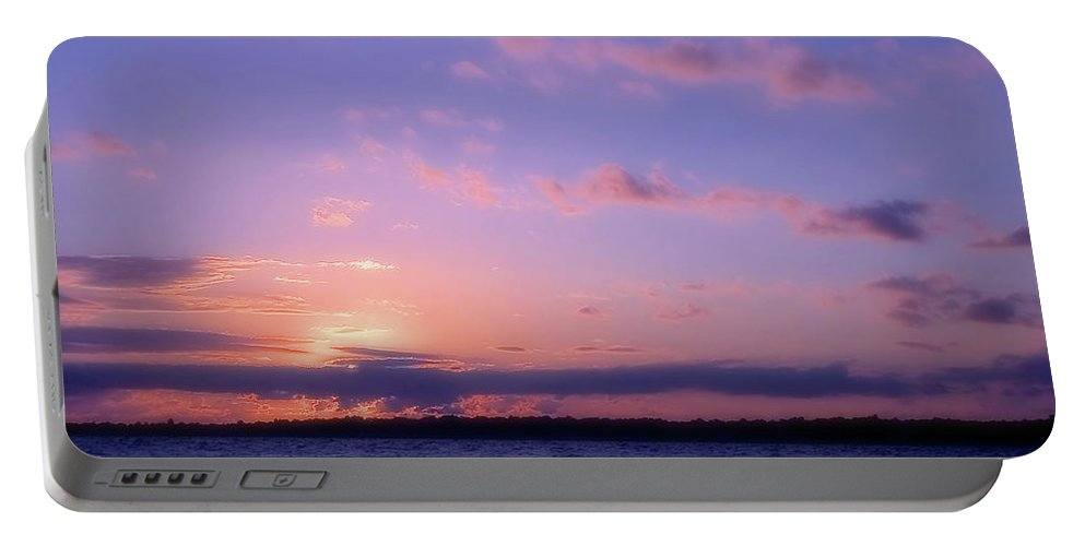 Sunset Portable Battery Charger featuring the photograph As Sun Sets by Karol Livote