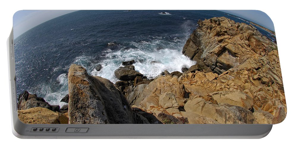 Ocean Portable Battery Charger featuring the photograph As The World Turns by Donna Blackhall