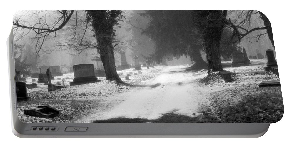 Photograph Portable Battery Charger featuring the photograph Ashland Cemetery by Jean Macaluso