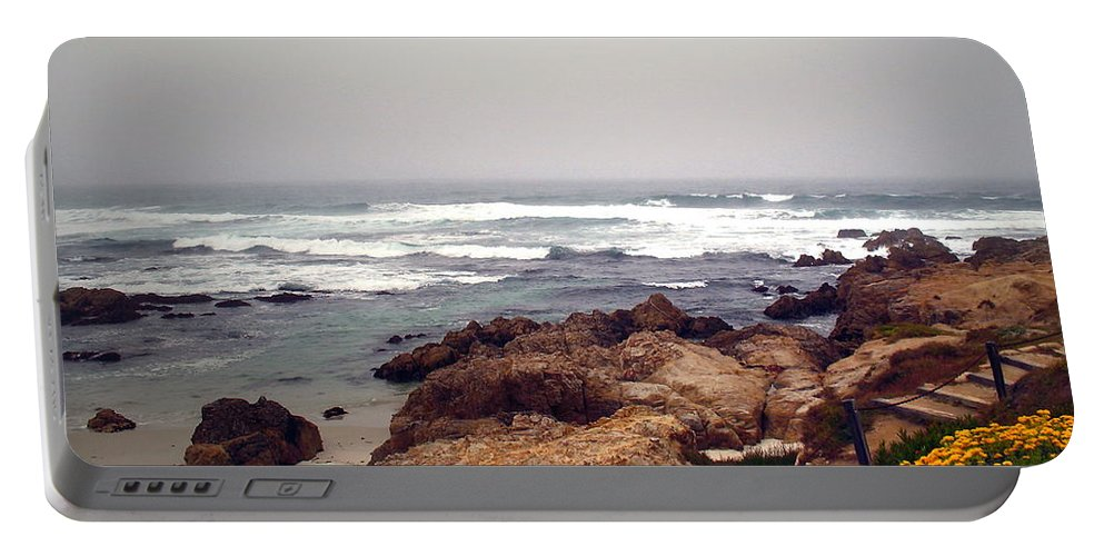 Asilomar Portable Battery Charger featuring the photograph Asilomar Beach Pacific Grove Ca Usa by Joyce Dickens
