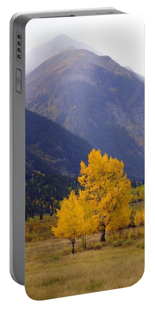 Fall Colors Portable Battery Charger featuring the photograph Aspen Fall 4 by Marty Koch