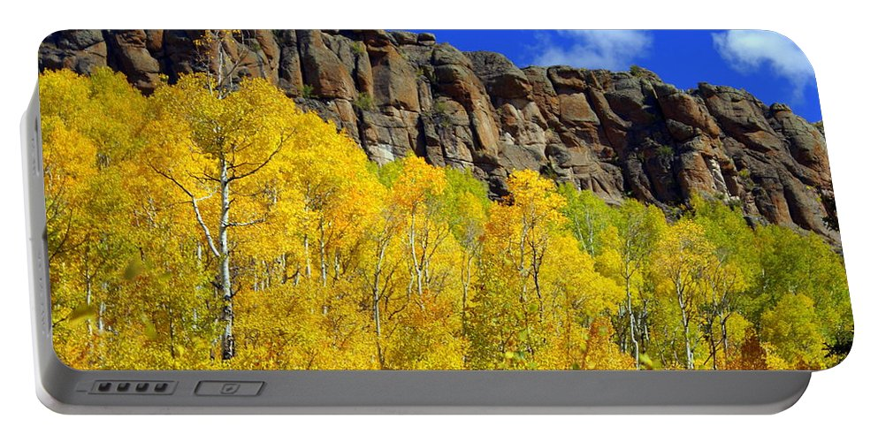 Fall Colors Portable Battery Charger featuring the photograph Aspen Glory by Marty Koch