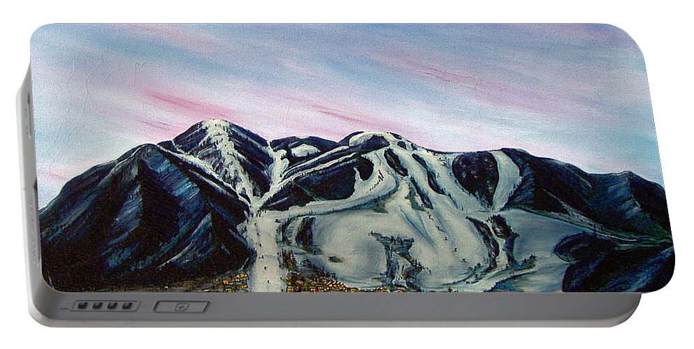 Aspen Portable Battery Charger featuring the painting Aspen by Jerome Stumphauzer
