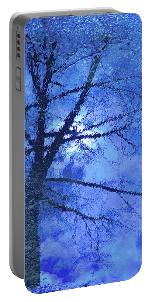 Abstract Portable Battery Charger featuring the photograph Asphalt-tree Abstract Refection 02 by Jor Cop Images