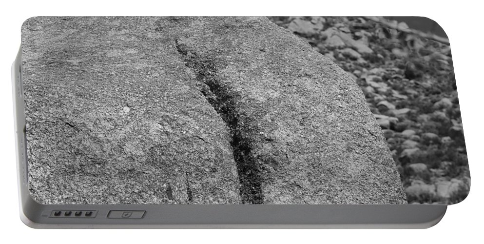 Rock Portable Battery Charger featuring the photograph Ass Crack New Mexico In Black And White by Rob Hans
