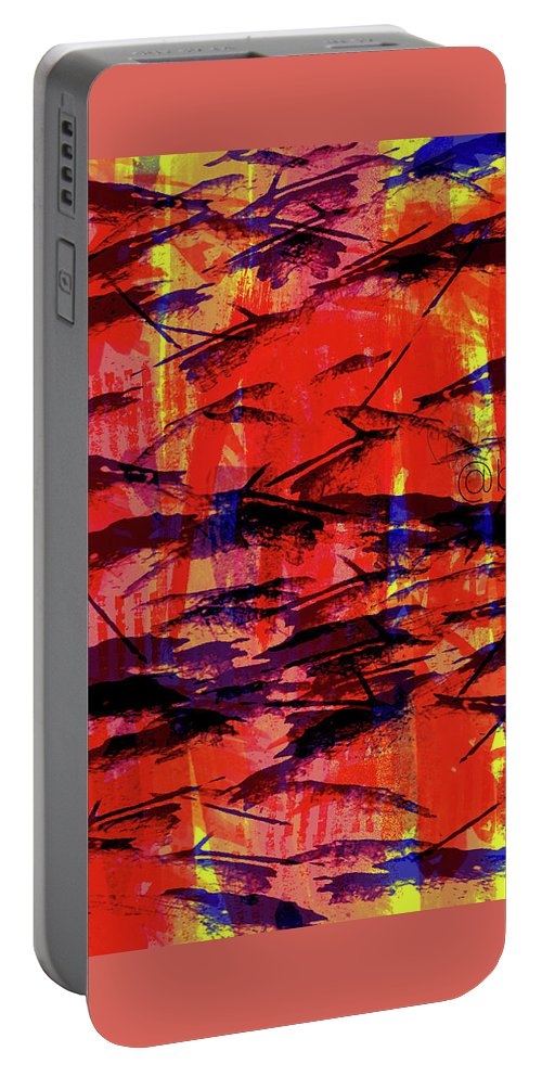Digital Art Portable Battery Charger featuring the digital art Assault And The Energizer Bunny by Brejenn Allen