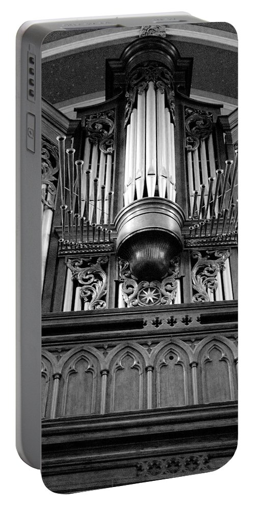 Royal Portable Battery Charger featuring the photograph Assumpton Organ by FineArtRoyal Joshua Mimbs
