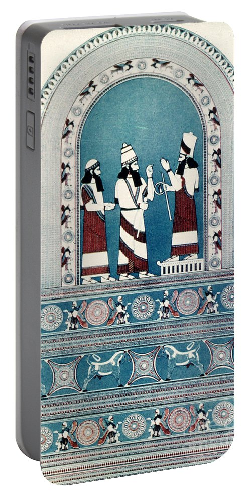 720 B.c. Portable Battery Charger featuring the photograph Assyrian King, C720 B.c by Granger