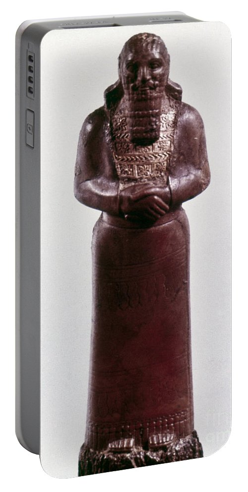 9th Century Bc Portable Battery Charger featuring the photograph Assyrian Statue by Granger