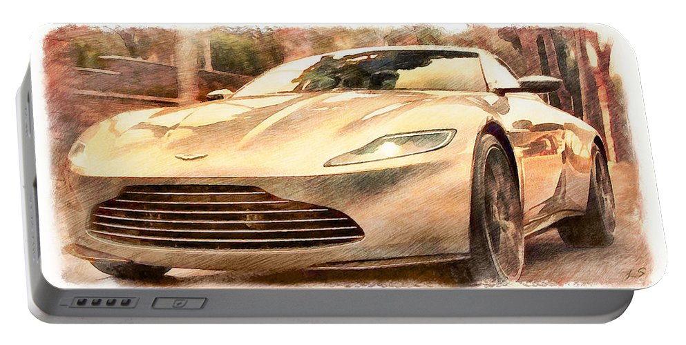 Aston Martin Portable Battery Charger featuring the photograph Aston Martin Db10 by Sergey Lukashin