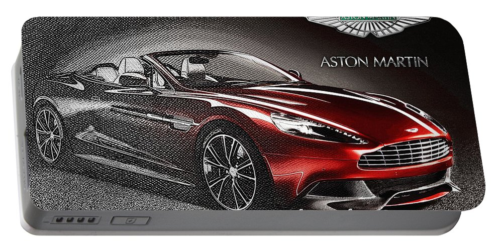 �wheels Of Fortune� Collection By Serge Averbukh Portable Battery Charger featuring the photograph Aston Martin Vanquish Volante by Serge Averbukh