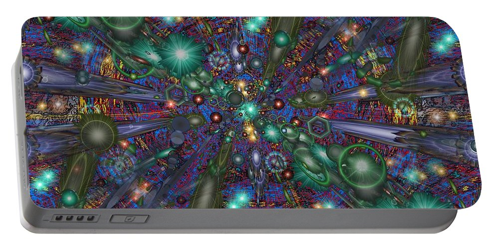 Abstract Portable Battery Charger featuring the digital art Astral Elixir by Tim Allen
