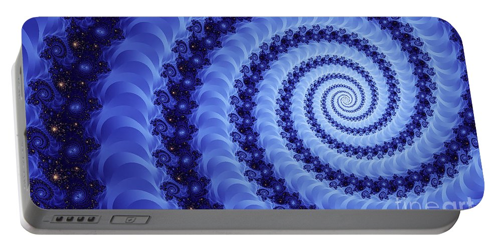 Clay Portable Battery Charger featuring the digital art Astral Vortex by Clayton Bruster