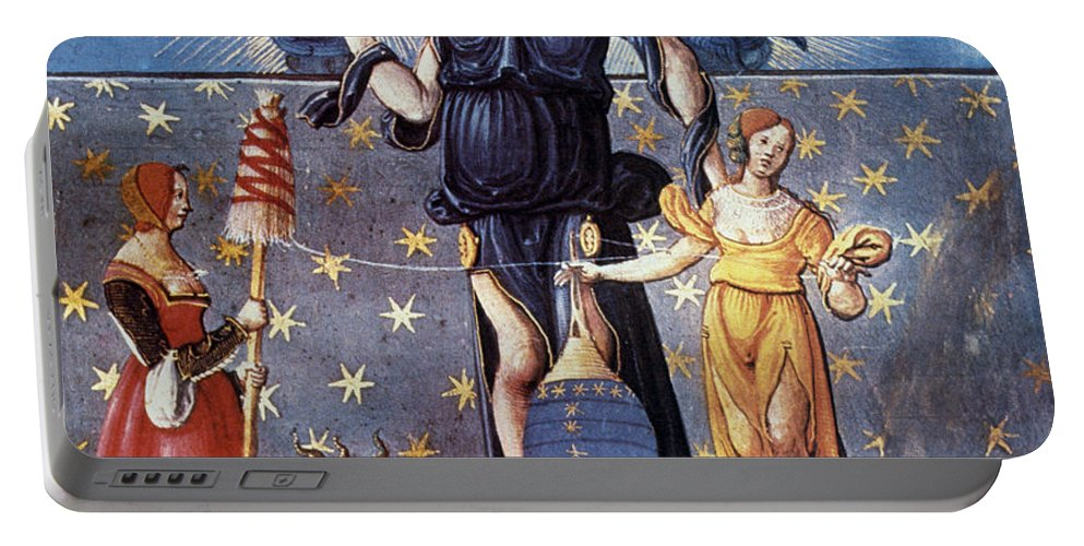 Allegory Portable Battery Charger featuring the photograph Astrology With Fates by Granger