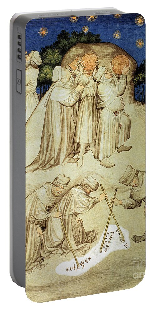 15th Century Portable Battery Charger featuring the photograph Astronomers by Granger