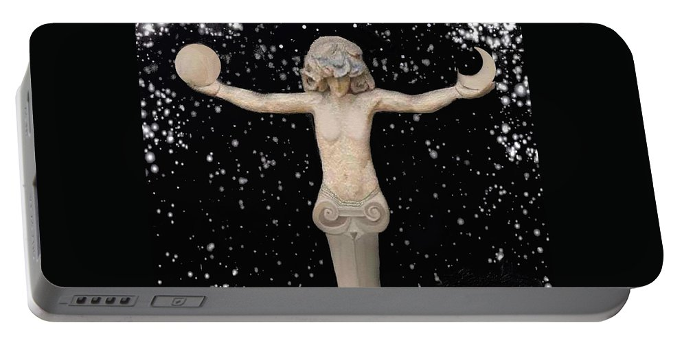 Astronomica Art Space Portable Battery Charger featuring the digital art Astronomica2 by Robert aka Bobby Ray Howle
