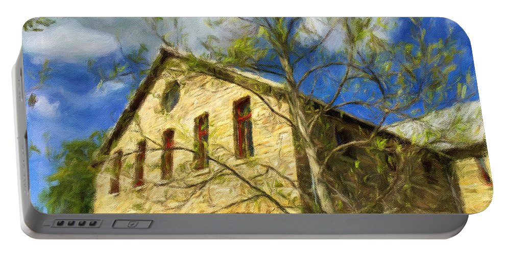 Nature Portable Battery Charger featuring the photograph At A Winery by Jonathan Nguyen