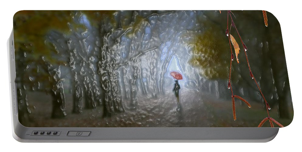 Landscape Portable Battery Charger featuring the photograph At Autumn Park by Scott Mendell