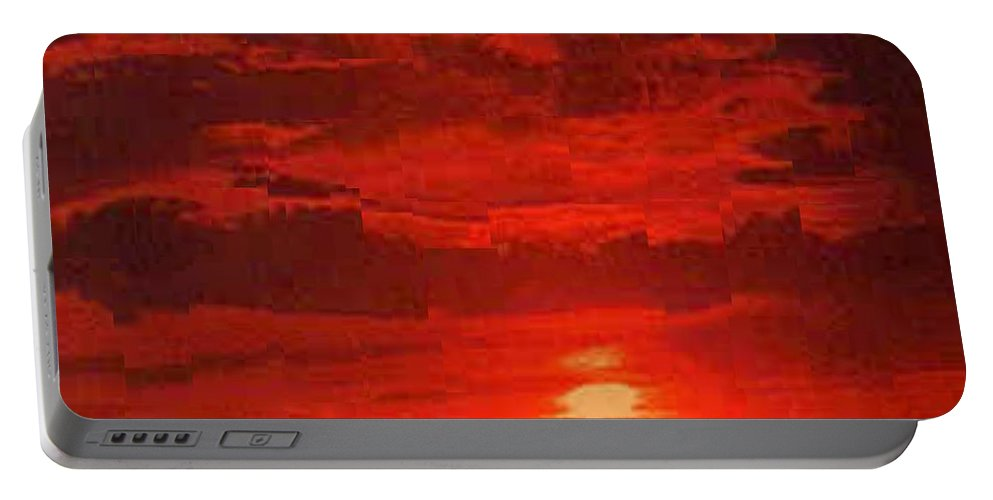 Sunset Portable Battery Charger featuring the photograph At Days End by Tim Allen