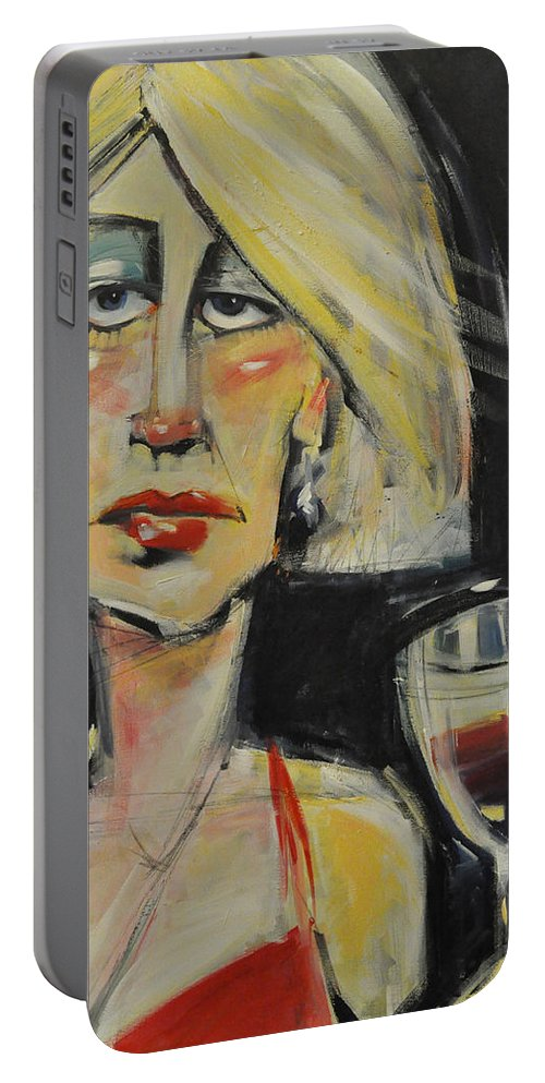 Woman Portable Battery Charger featuring the painting At The Gala - Reprise by Tim Nyberg