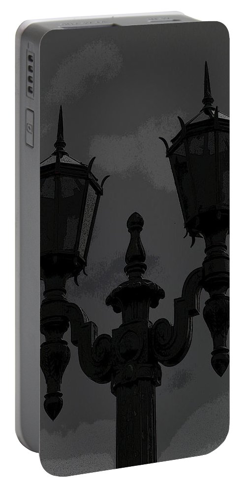Light Portable Battery Charger featuring the digital art At The Gate by Marnie Patchett