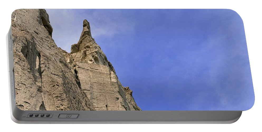 Cliff Portable Battery Charger featuring the photograph At The Scarborough Bluffs by Lyle Crump
