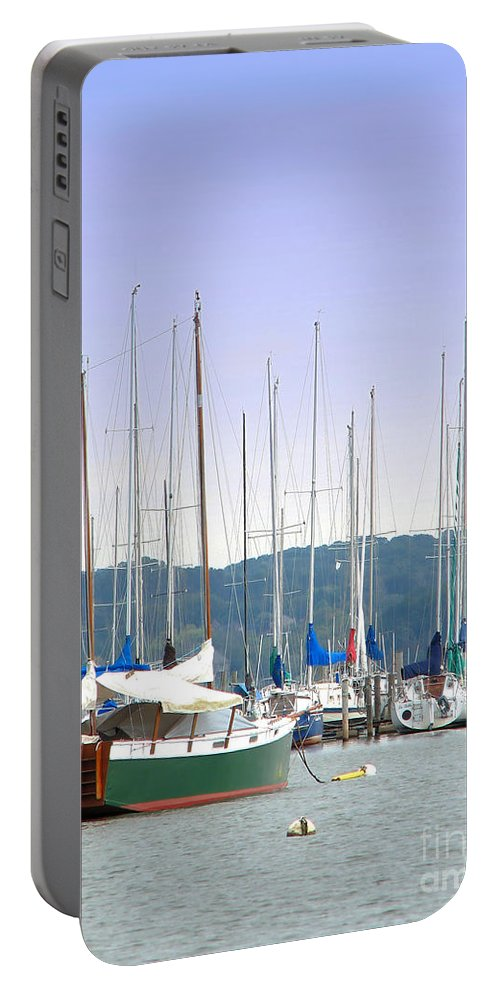 Seascape Portable Battery Charger featuring the photograph At The Yacht Club by Todd Blanchard