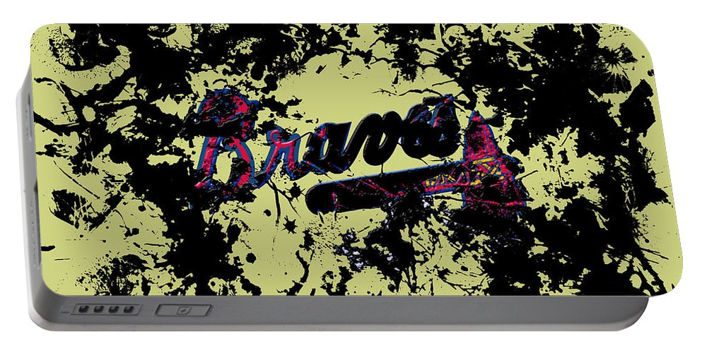 Atlanta Braves Portable Battery Charger featuring the mixed media Atlanta Braves 1c by Brian Reaves