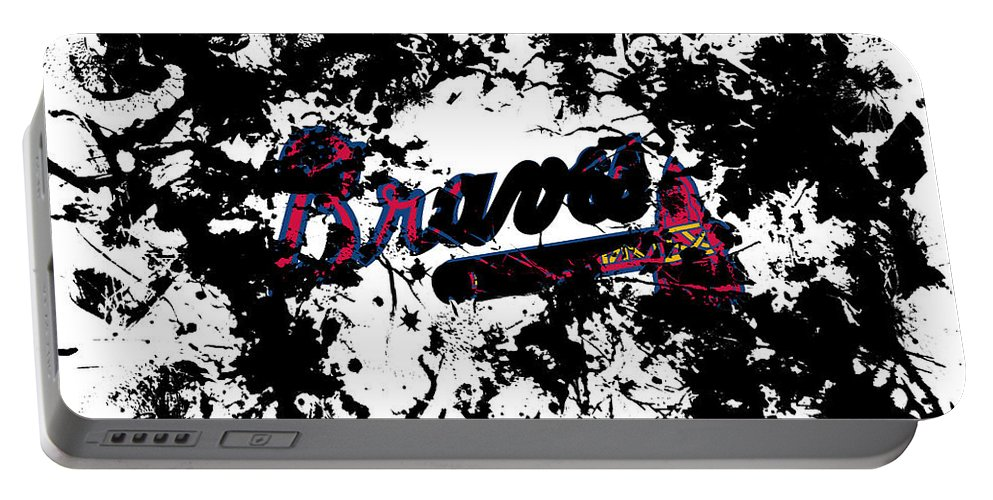 Atlanta Braves Portable Battery Charger featuring the mixed media Atlanta Braves 1d by Brian Reaves