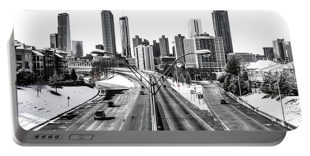 Atlanta Portable Battery Charger featuring the photograph Atlanta Snow Day by Kennard Reeves