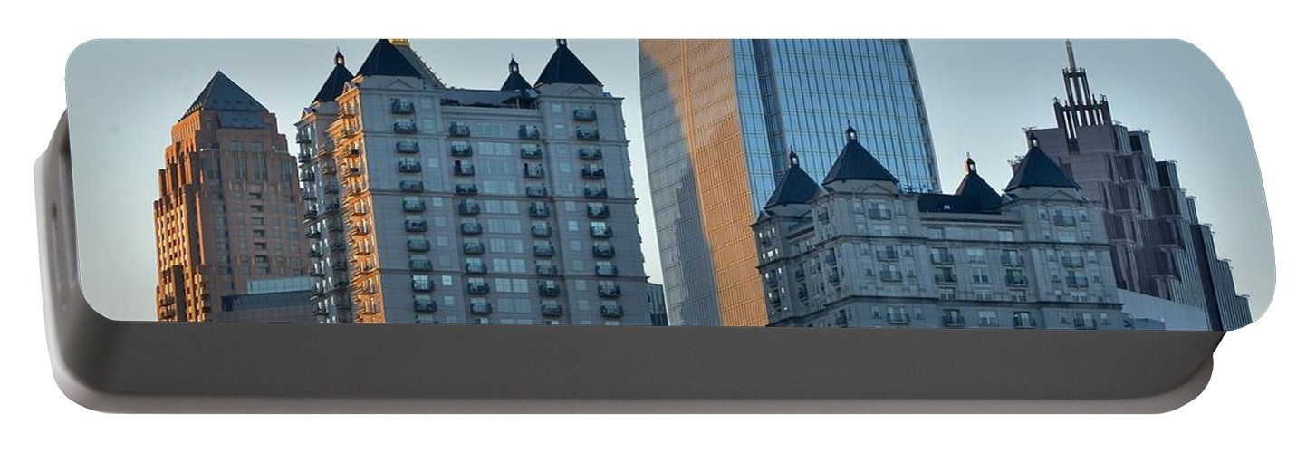 Atlanta Portable Battery Charger featuring the photograph Atlanta Towers by Frozen in Time Fine Art Photography