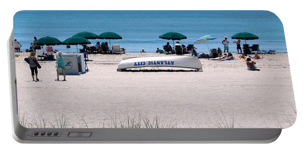 Beach Portable Battery Charger featuring the photograph Atlantic City Series -15 by Arlane Crump