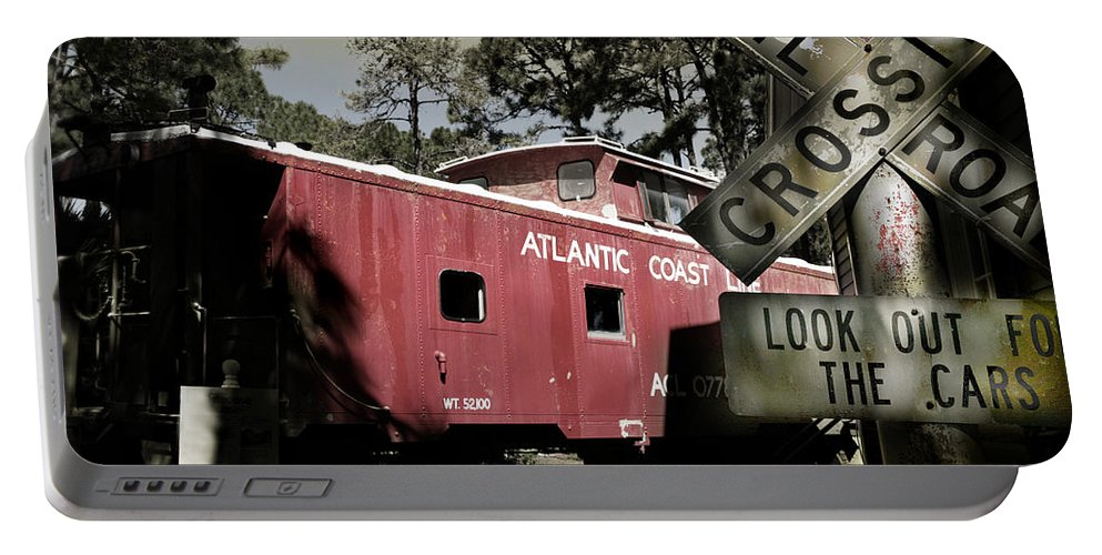 Atlantic Portable Battery Charger featuring the photograph Atlantic Coast Line Railroad Carriage by Mal Bray