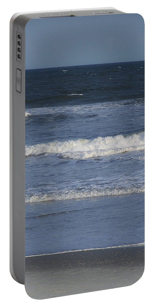 Atlantic Portable Battery Charger featuring the photograph Atlantic Ocean Gradient by Teresa Mucha