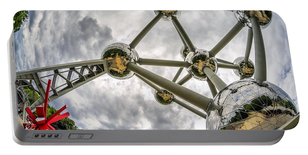 Atomium Portable Battery Charger featuring the photograph Atomium 3 by Pablo Lopez