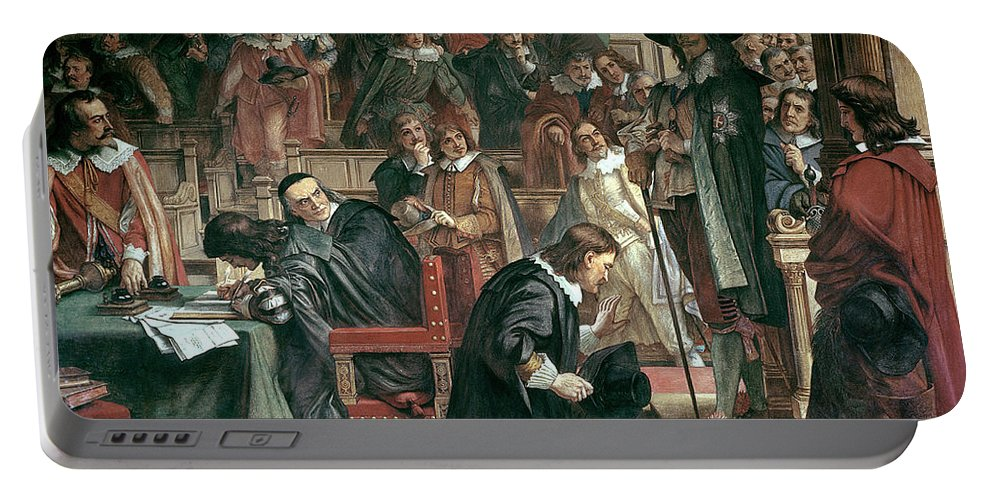 Charles I Portable Battery Charger featuring the painting Attempted Arrest Of 5 Members Of The House Of Commons By Charles I by Charles West Cope