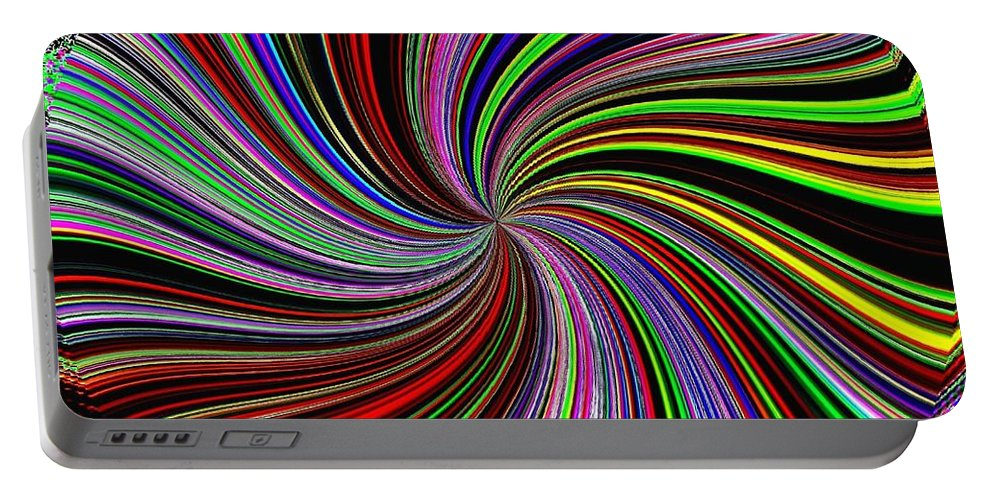 Abstract Portable Battery Charger featuring the digital art Attitude by Will Borden