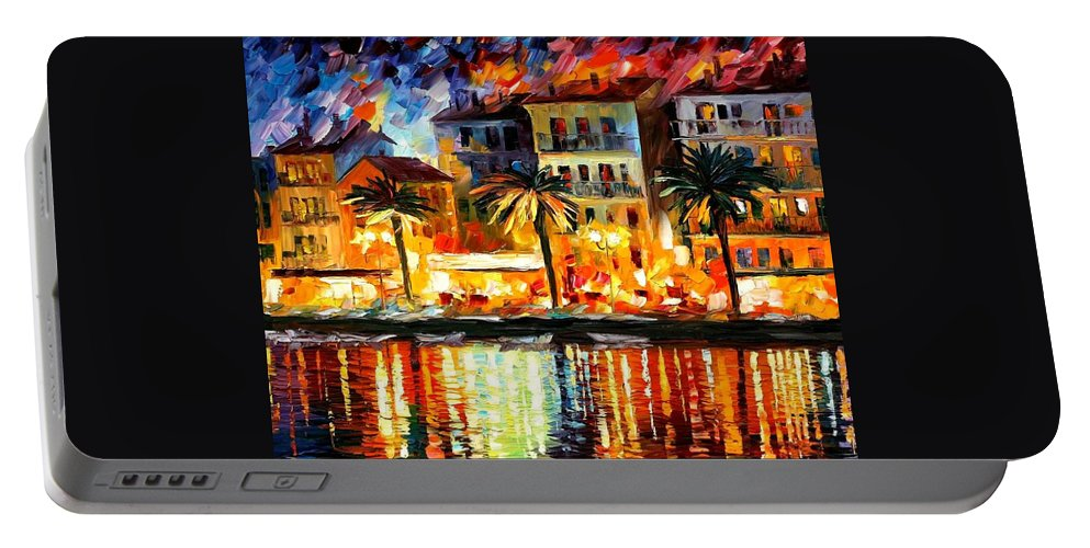 Afremov Portable Battery Charger featuring the painting Attractive Corsica by Leonid Afremov