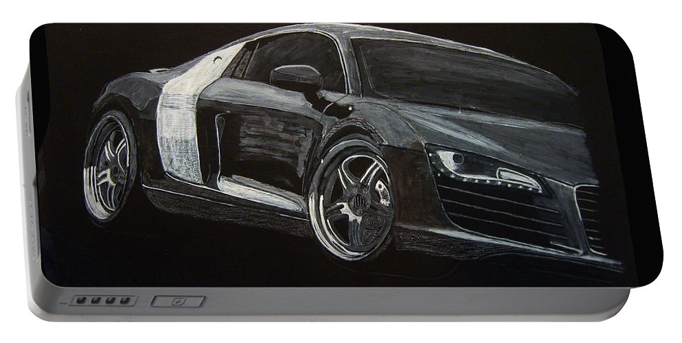 Audi Portable Battery Charger featuring the painting Audi Le Mans by Richard Le Page