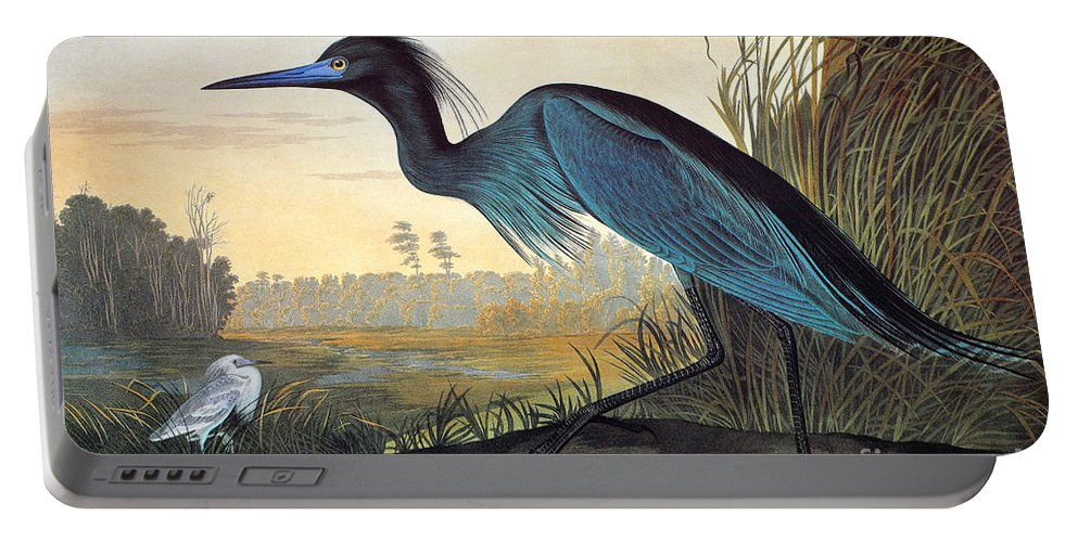 1827 Portable Battery Charger featuring the photograph Little Blue Heron by John James Audubon