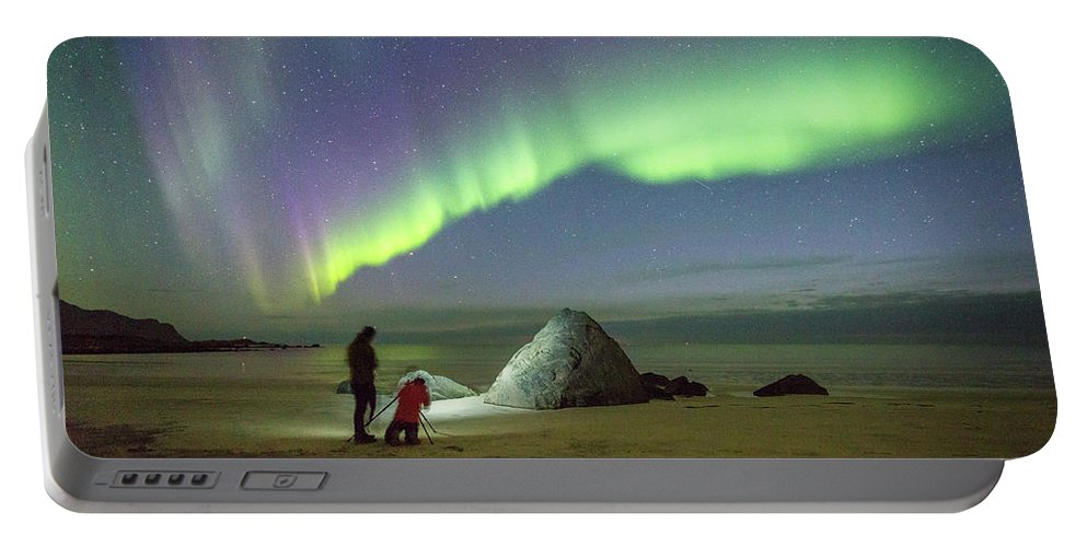 Aurora Portable Battery Charger featuring the photograph Aurora Photographers by Alex Conu