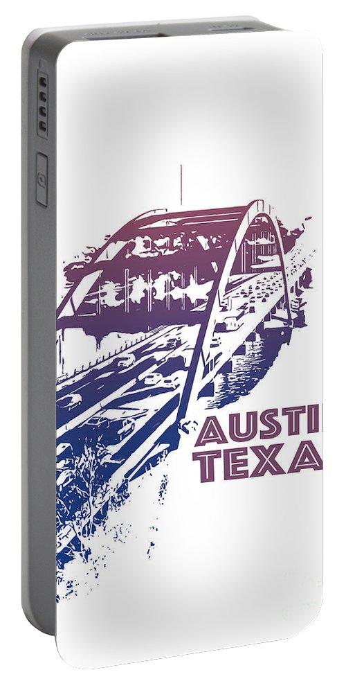 Austin 360 Bridge Portable Battery Charger featuring the photograph Austin 360 Bridge, Texas by PorqueNo Studios