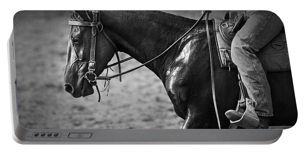 Horse Photography Portable Battery Charger featuring the photograph Australian Cowboy by Michelle Wrighton