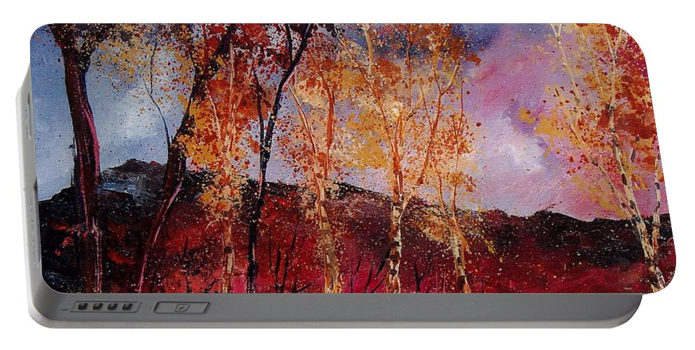 Tree Portable Battery Charger featuring the painting Autumn 6712545 by Pol Ledent
