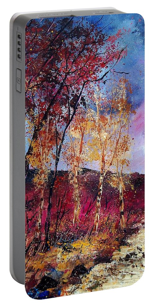 Landscape Portable Battery Charger featuring the painting Autumn 760808 by Pol Ledent