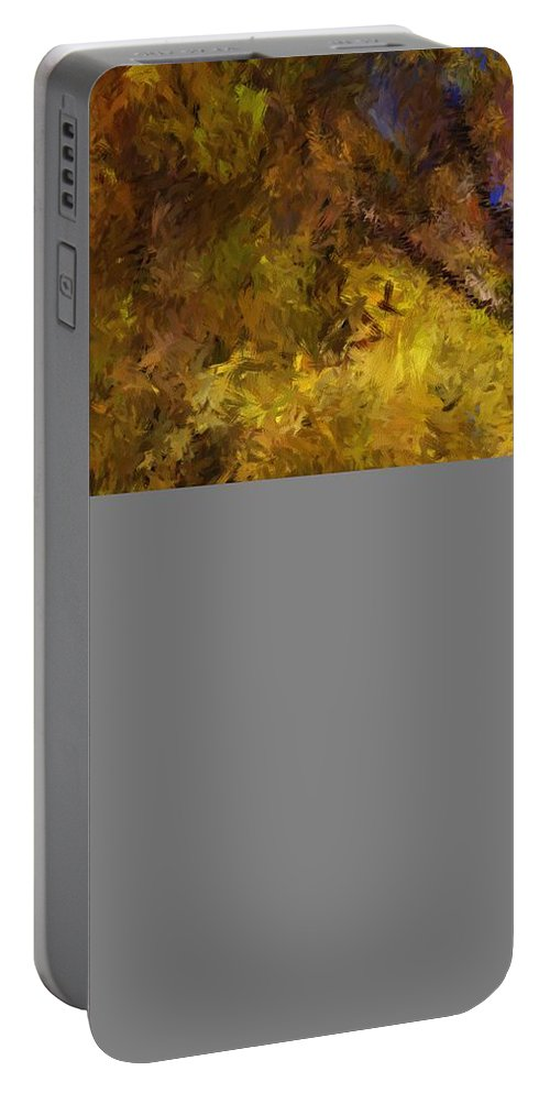 Abstract Digital Painting Portable Battery Charger featuring the digital art Autumn Abstract by David Lane