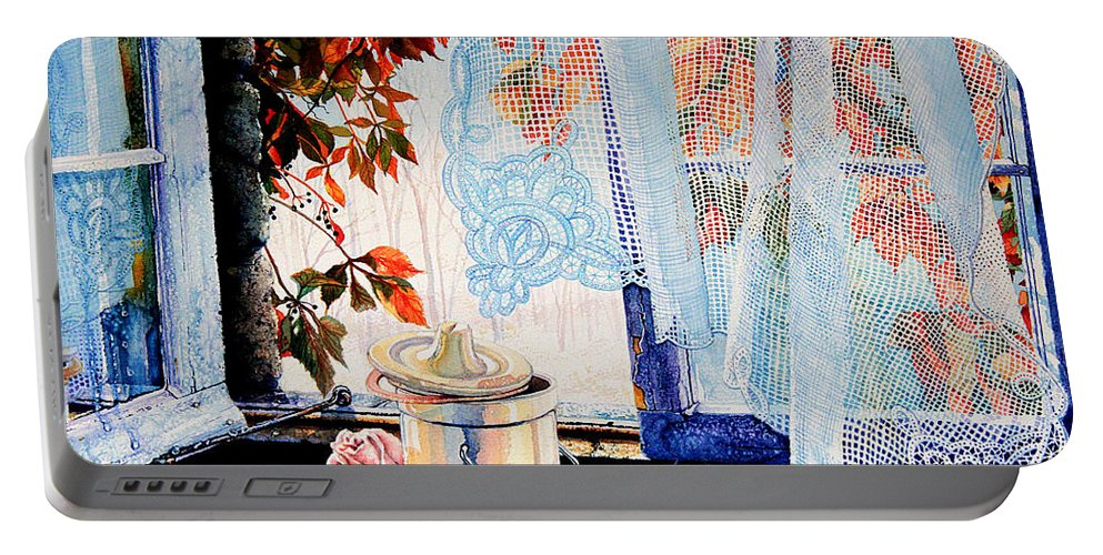 Autumn Aromas Portable Battery Charger featuring the painting Autumn Aromas by Hanne Lore Koehler