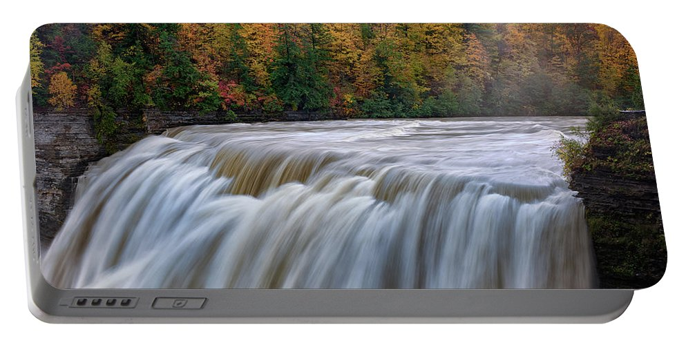 Autumn Portable Battery Charger featuring the photograph Autumn At The Middle Falls by Rick Berk